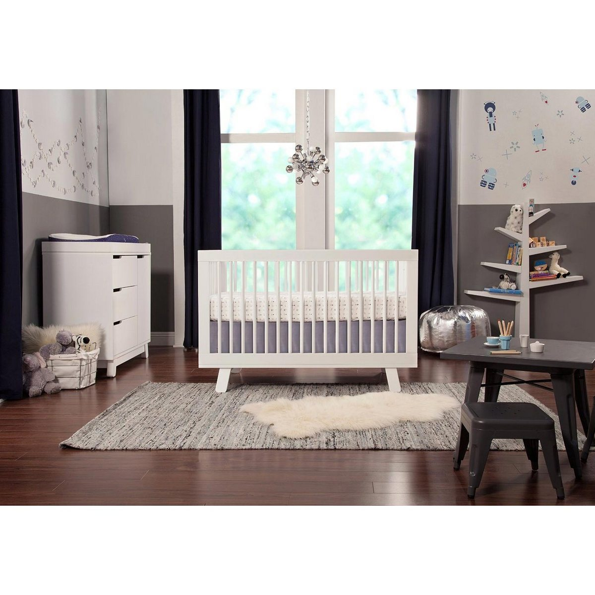 babyletto spruce tree bookcase in white free shipping   -