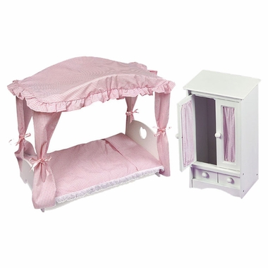 badger basket canopy doll bed and doll armoire set free