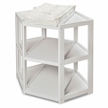 Badger Basket Diaper Corner Changing Table in White
