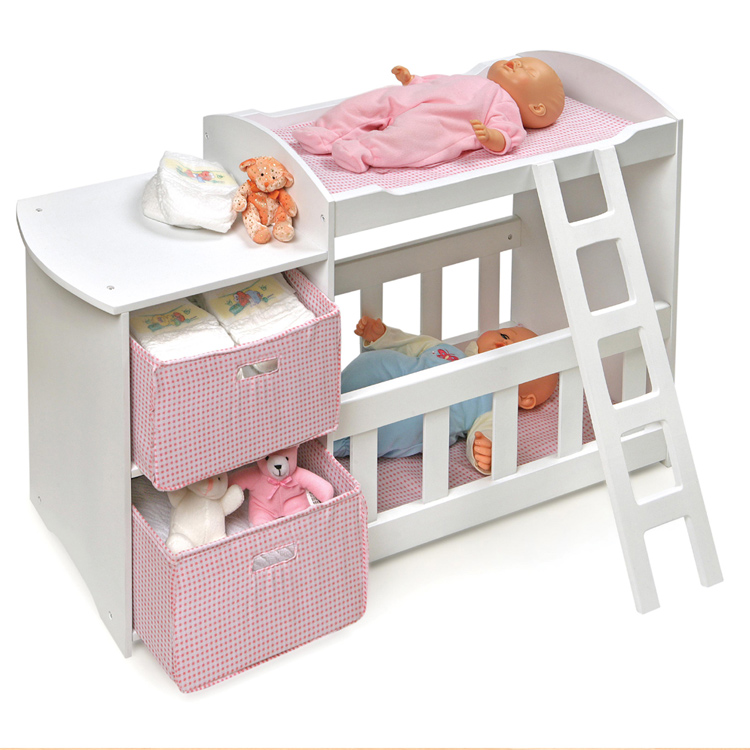 Badger Basket Doll Crib And Changing Station With 2 Baskets FREE SHIPPING