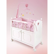 Badger Basket Doll Crib Bed w/Cabinet, Mobile, and Bedding