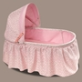 Badger Basket Pink Rosebud Doll Cradle