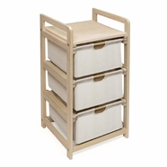 Badger Basket Three Drawer Hamper/Storage Unit