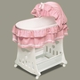 Badger Basket Toybox Bassinet Waffle Ruffled in Pink