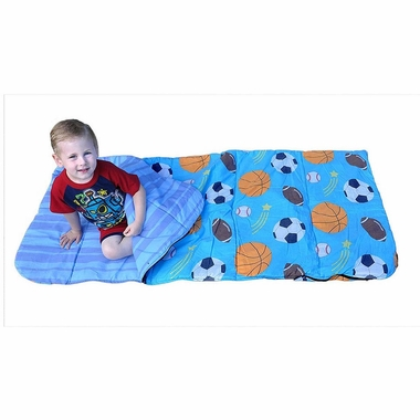 Bazoongi All Sports Star Slumber Bag in Blue - Click to enlarge