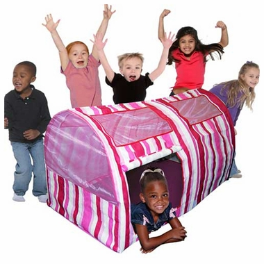 Bazoongi Kids Pink Stripe Bed Tent