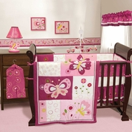 Pink Butterfly Bedding Collection by Bedtime Originals