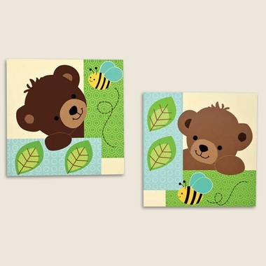Bedtime Originals Honey Bear Wall Decor By Lambs Ivy Free Shipping