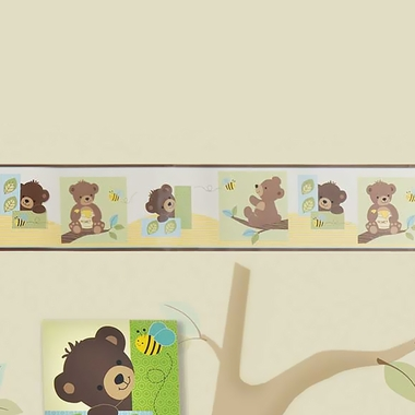 Bedtime Originals Honey Bear Wallpaper Border by Lambs & Ivy