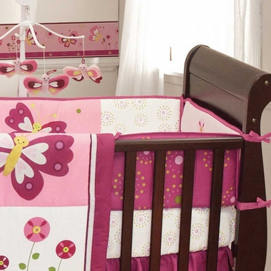 bedtime originals pink butterfly crib bumper by lambs u0026 ivy