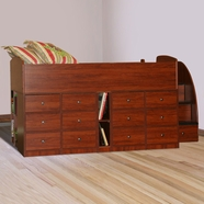 Berg Furniture Sierra Captain's Full Bed 12 Drawer with Stairs