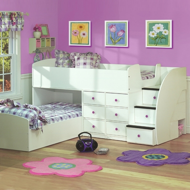 Beau Berg Furniture Sierra Captainu0027s Full Over Twin Bed For Two With Stairs