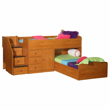Berg Sierra Captain's Bed Twin over Twin
