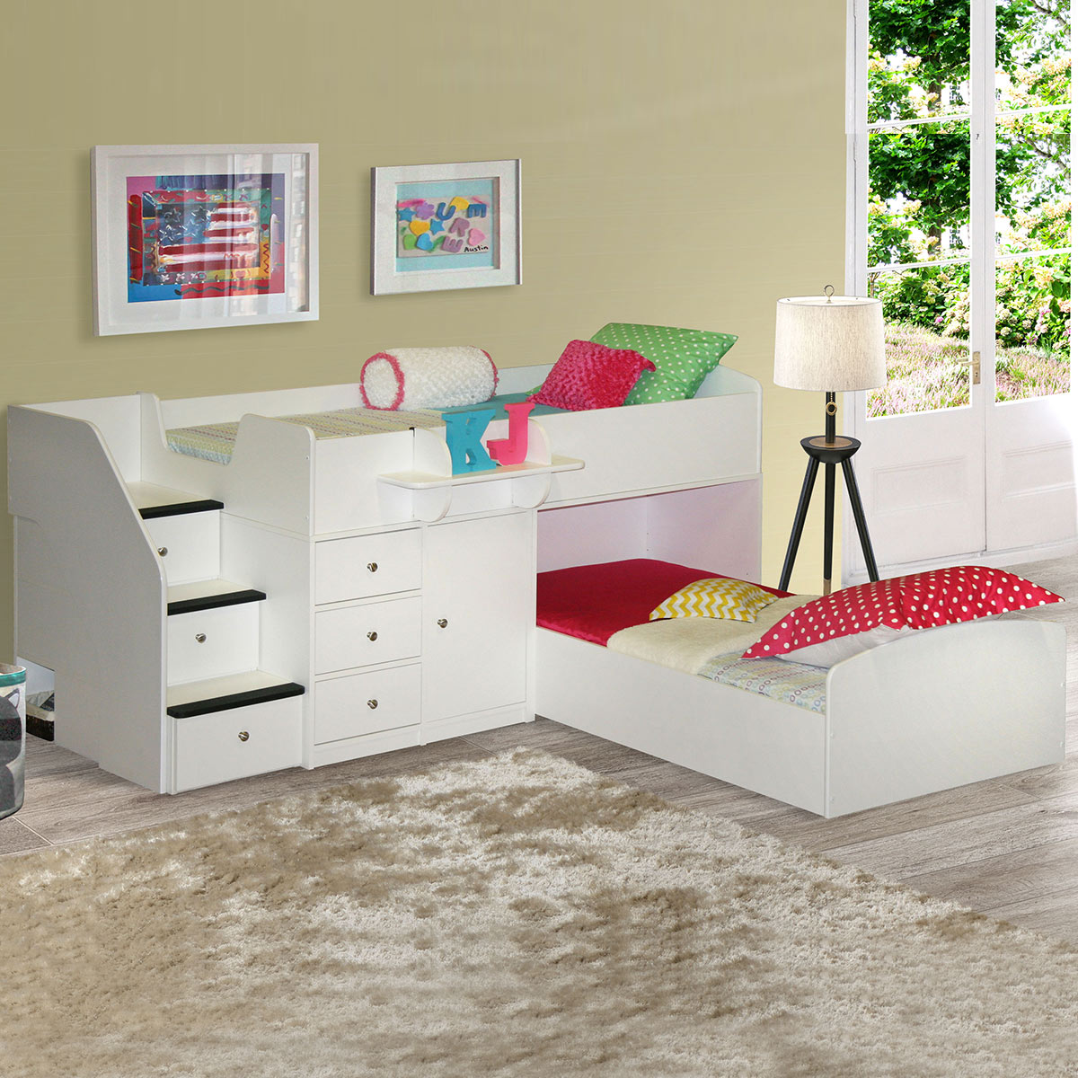 Berg Furniture Sierra Captain s Twin Over Twin Bed for Two FREE SHIPPING. Berg Furniture Sierra Captain s Twin Over Twin Bed for Two FREE