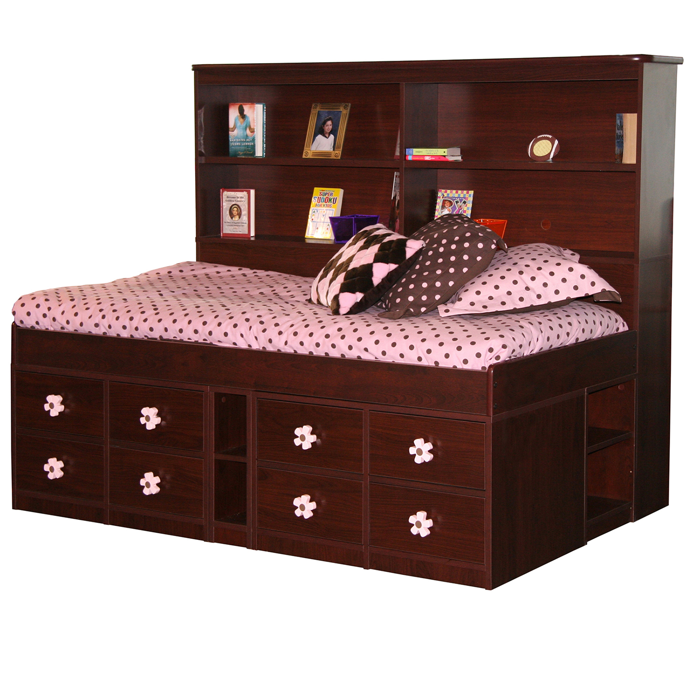 Berg Furniture Sierra Jr Captain S Bed With Low Frame Twin