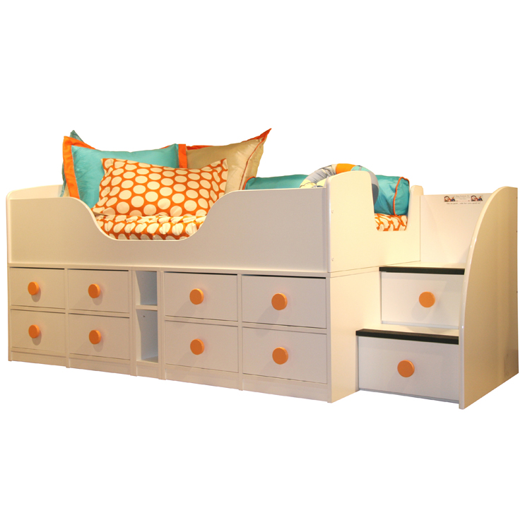 Berg Furniture Sierra Jr  Captain s Full Bed with High Frame   Stairs FREE  SHIPPING. Berg Furniture Sierra Jr  Captain s Full Bed with High Frame