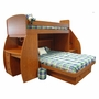 Berg Furniture Sierra Spacesaver Twin Over Full with Desk & Stairs