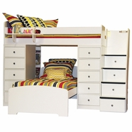 Berg Furniture Sierra Spacesaver Twin Over Twin with 2 Chests & Stairs