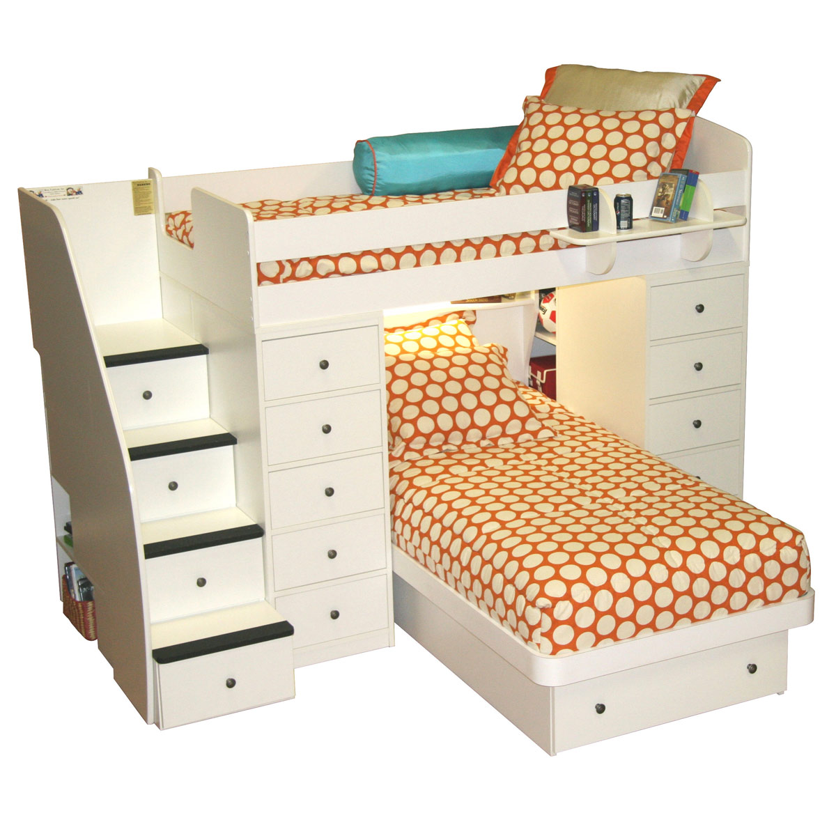 Spacesaver Bed berg furniture sierra spacesaver twin over twin with 2 chests