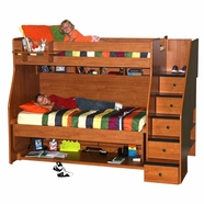 Berg Metropolitan Transforming XL Twin Over Twin Bunk Bed with Stairs