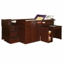 Berg Sierra Full Captain's Bed with Hide-Away Desk