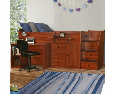 Berg Sierra Twin Captain's Bed with Hide-Away Desk