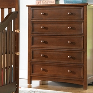 Bonavita 5 Drawer Dresser 4100 Series in Chocolate
