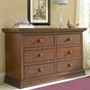 Bonavita Sheffield Double Dresser in Dark Walnut
