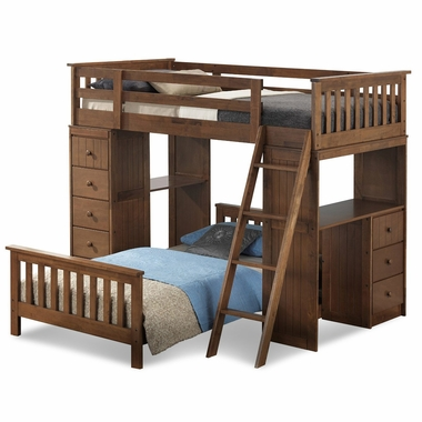 Broyhill Kids Marco Island Twin Loft Bed In Dove Brown FREE SHIPPING