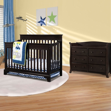 Broyhill Kids Messina 2 Piece Nursery Set 4 In 1 Convertible Crib And