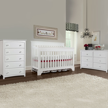 Broyhill Kids Messina 3 Piece Nursery Set 4 In 1 Convertible Crib