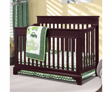 Broyhill Kids Messina 4-in-1 Convertible Crib in Cherry