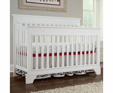 Broyhill Kids Messina 4-in-1 Convertible Crib in White