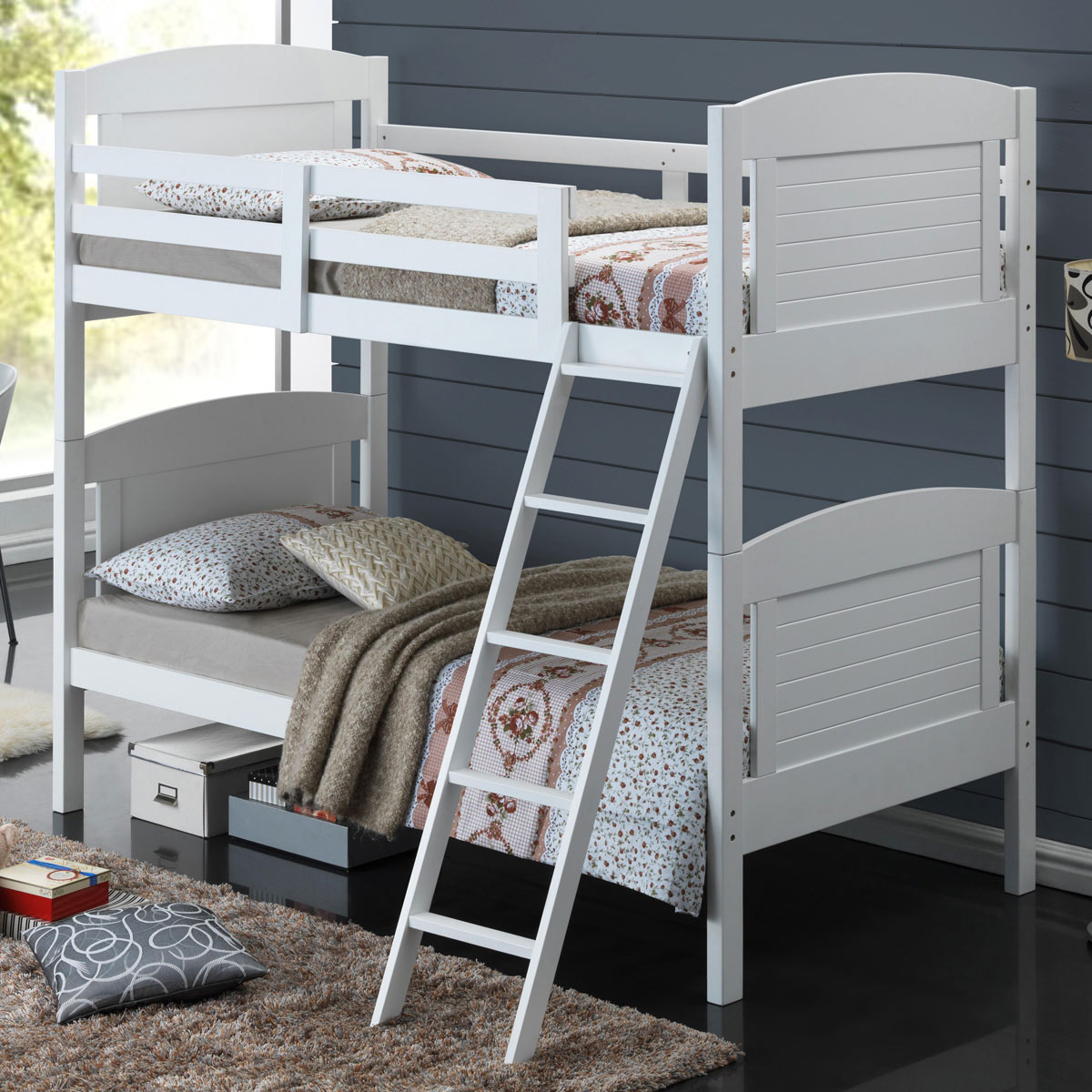 Broyhill Kids Nantucket Twin Bunk Bed In White Free Shipping