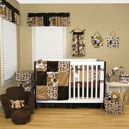 Bubbles Brown Crib Bedding Collection by Trend Lab