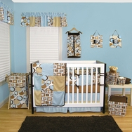 Bubbles Teal Crib Bedding Collection by Trend Lab