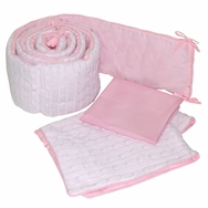 Cable Knit Pink Crib Bedding Collection by Sleeping Partners Tadpoles