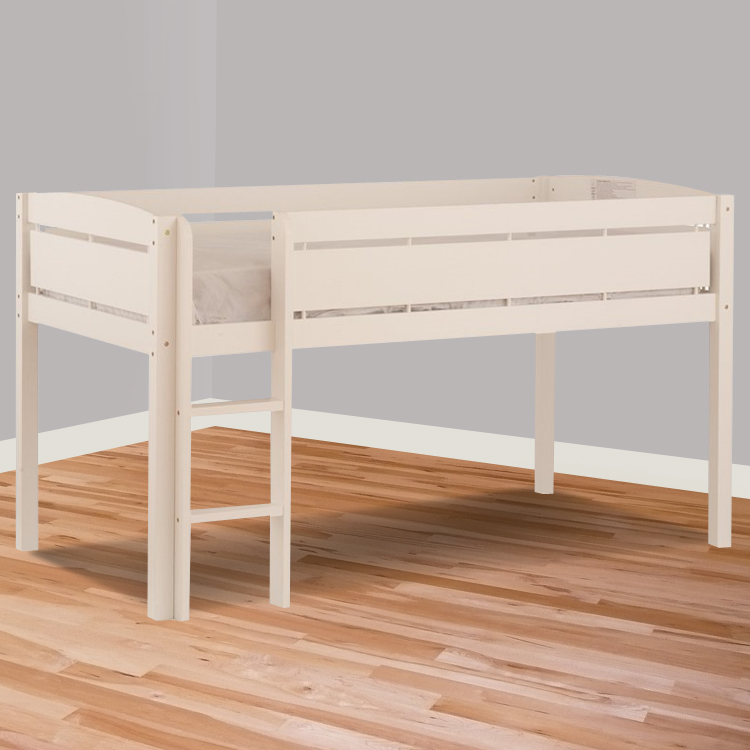 Twin Jr Loft Bed.Canwood Whistler Junior Twin Loft Bed In White
