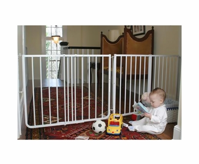 "Cardinal Gates Extendable Gate 85"" - White"