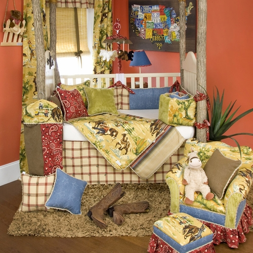 cassidy and banjo crib bedding collection