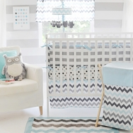 Chevron in Aqua Bedding Collection by My Baby Sam
