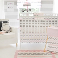 Chevron in Pink Bedding Collection by My Baby Sam