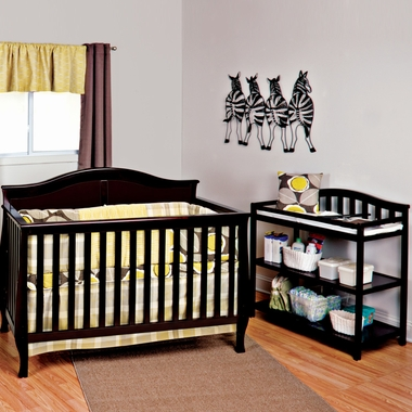 Child Craft 2 Piece Nursery Set Camden 4 In 1 Convertible Crib And Arched Dressing Table Jamocha Free Shipping