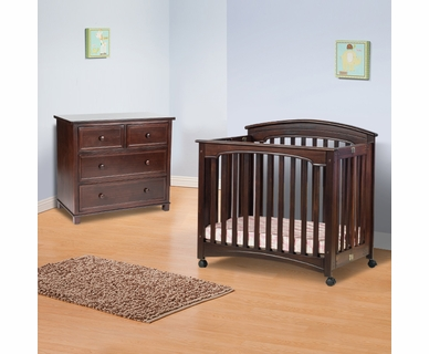 Child Craft Nursery Set - Stanford Child Craft Stanford Mini Crib and 3 Drawer Dresser in Select Cherry