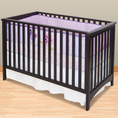 Child Craft Shoal Creek 2 in 1 Euro Style Convertible Crib in Jamocha