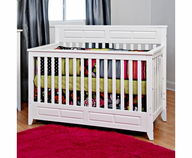 Child Craft Shoal Creek 3 in 1 Lifetime Convertible Crib in Matte White