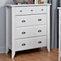 Child Craft Shoal Creek 4 Drawer Dresser in Matte White