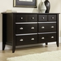 Child Craft Shoal Creek 6 Drawer Double Dresser in Jamocha