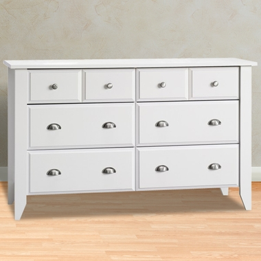 Child Craft Shoal Creek 6 Drawer Double Dresser in Matte