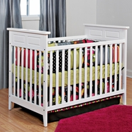 Child Craft Shoal Creek Convertible Crib in Matte White